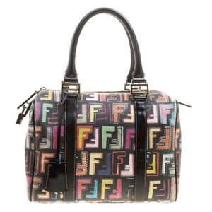 fd0219fa892 Added to Shopping Bag. Fendi Satchel in Multicolor. Fendi Small Forever  Bauletto Multicolor Coated Canvas Satchel