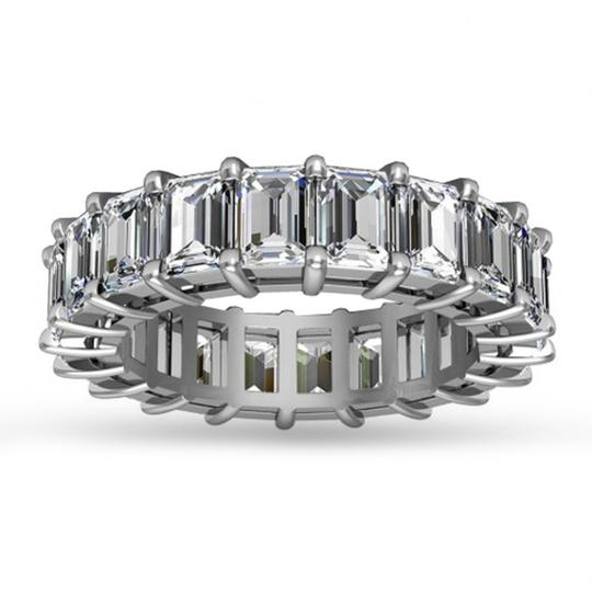 Preload https://img-static.tradesy.com/item/24011772/madina-jewelry-white-500-ct-emerald-cut-diamond-eternity-band-ring-0-0-540-540.jpg