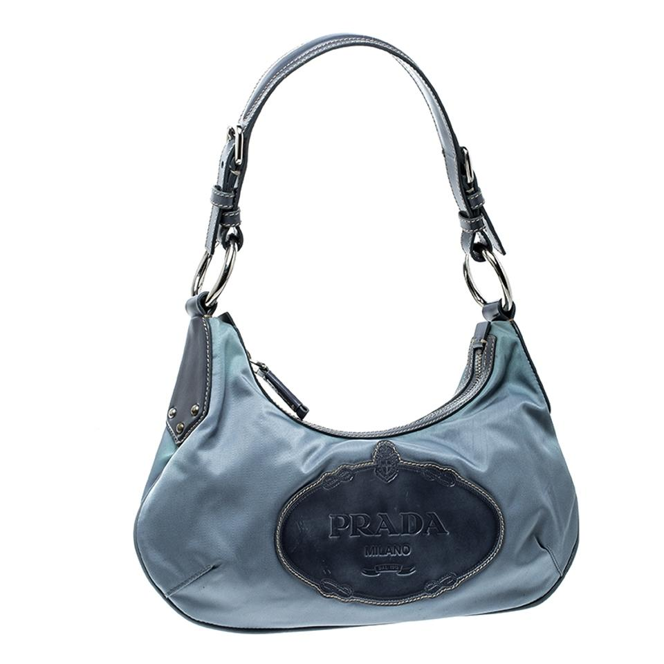 868913a61cfa ... coupon prada light blue nylon shoulder bag tradesy 54556 8c9b9