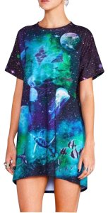 Blackmilk Womens Tops T Shirt Black Blue