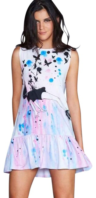 Item - Pink Blue Out Of Gravity Friller Small Short Casual Dress Size 4 (S)