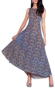 Blue Tan Maxi Dress by Blackmilk Women