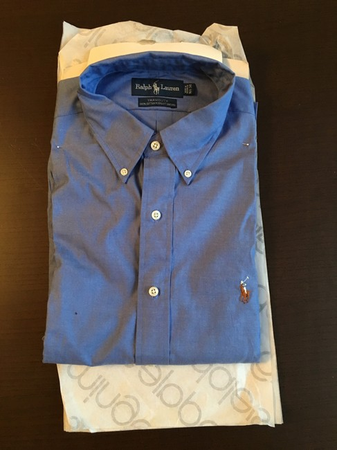 Item - Blue Yarmouth Classics Pinpoint Oxford Shirt