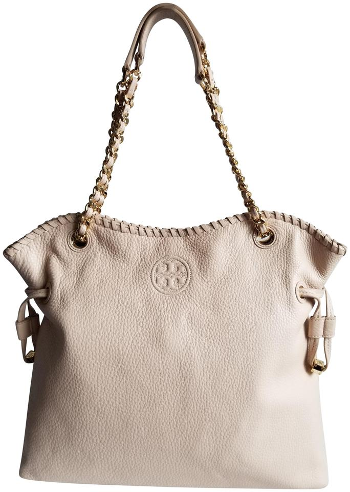 Tory Burch Marion Slouchy Tote Light Pink Soft Leather Shoulder Bag