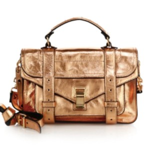 Proenza Schouler Satchel in Metallic Gold