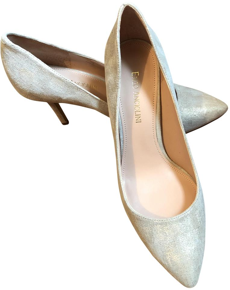 Enzo Angiolini Gold and and Gold Beige/Taupe Pumps c0d8a3