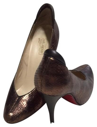 Oh Deer! Brown Snake Skin Pumps