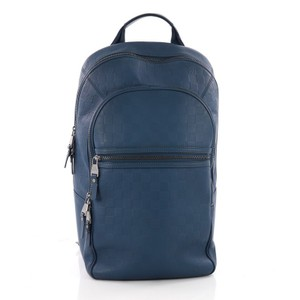 Louis Vuitton Backpack Leather blue Travel Bag
