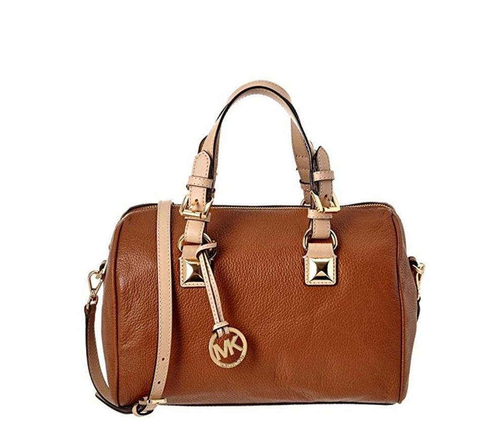 e17f054d053d ... best price michael kors grayson leather handbag satchel in brown cb345  d0dd1