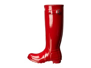 Hunter Military Red Gloss Boots