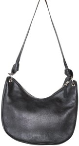 Borbonese Italian Leather Large Shoulder Bag