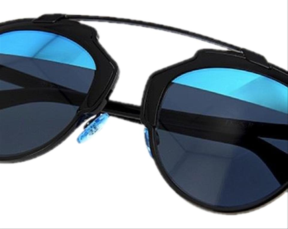 7df6195f20 Dior Black and Blue Women s So Real Split Lens Mirrored Sunglasses ...