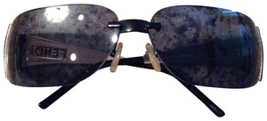 Fendi FENDI BLACK RIMLESS UNISEX SUNGLASSES+BVLGARI BLACK CASE