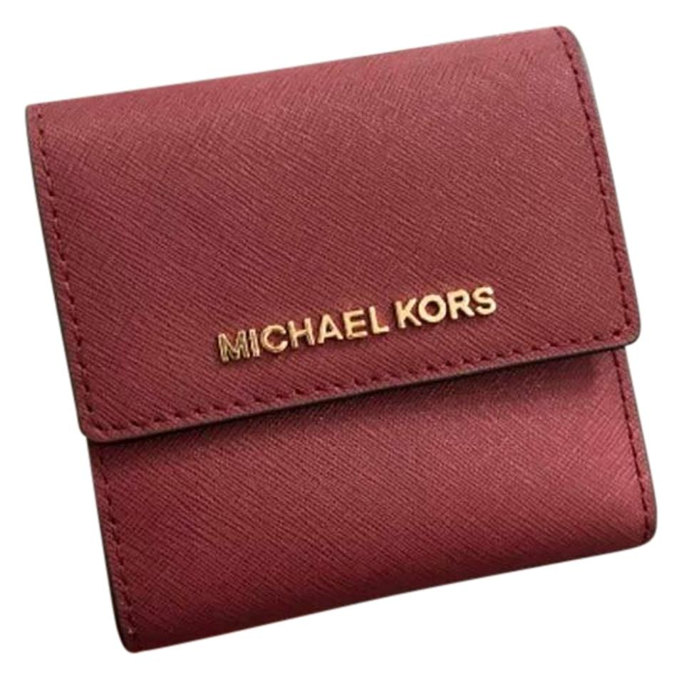 cbfb83e4ee4300 Michael Kors Michael Kors Small Trifold Wallet Card Case Carryall Jet set  travel Image 0 ...
