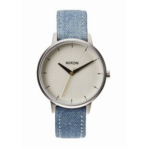 a4bcfafee Nixon A108-1601 Kensington Womens Blue Leather Band White Analog Dial Watch