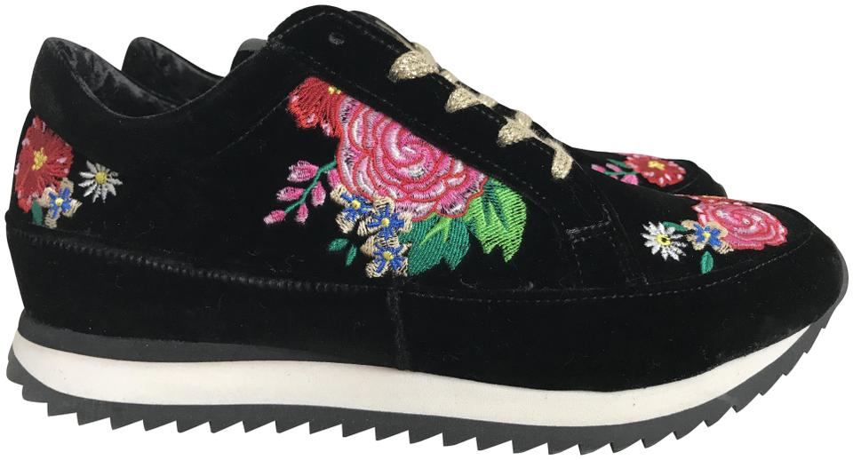Charlotte Rose Olympia Black Work It Rose Charlotte Garden Embroidered Sneakers Sneakers e555a3