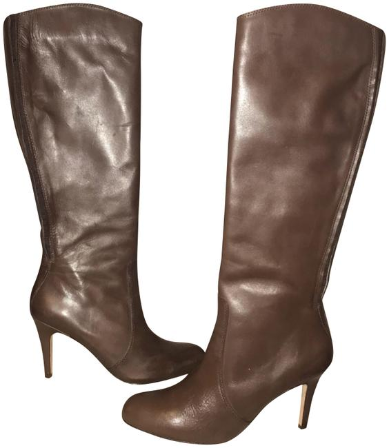 Item - Brown Leather Knee High Stiletto Boots/Booties Size US 8 Regular (M, B)