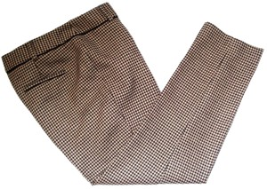Talbots Hampshire Houndstooth Wool Trouser Pants Brown Beige