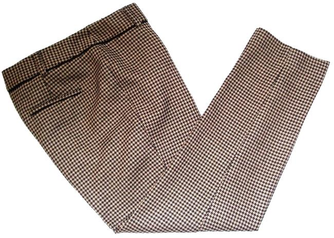 Item - Brown Beige Hampshire Houndstooth Wool 8p Pants Size Petite 8 (M)