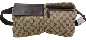 Gucci Monogram Satchel in Brown