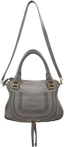 Chloé Satchel in Cashmere Gray/Gold Hardware