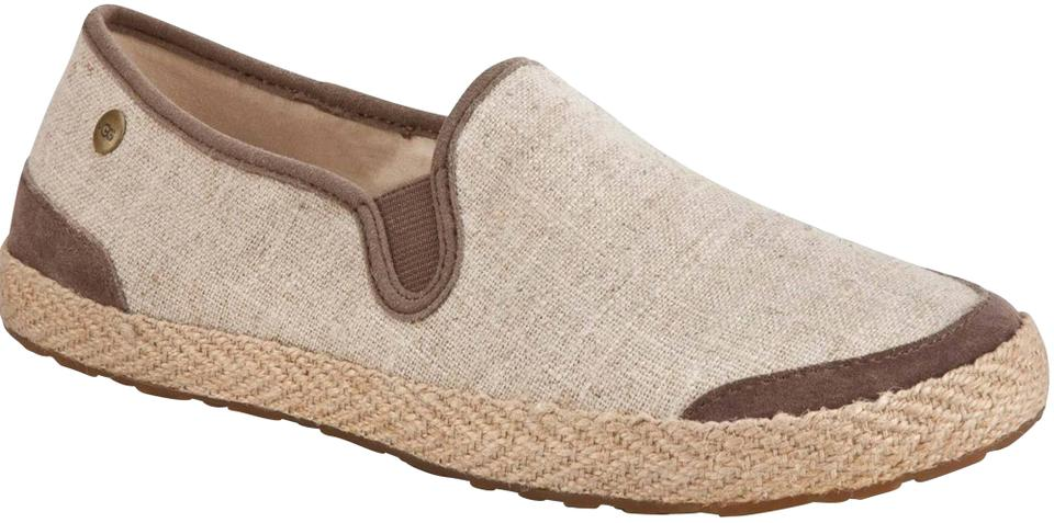 e411e93c615 UGG Australia Multi-color Beige Canvas Textile Upper Leather/Suede Jute  Loafer Style No. F3013e Flats Size US 5.5 Regular (M, B)