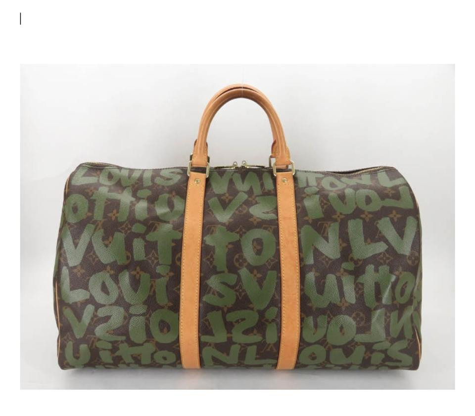 fc8c36dc1629 Louis Vuitton Keepall Carry On Luggage Rare Graffiti Weekend Travel ...