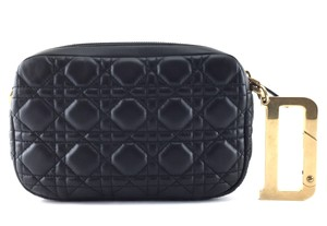 Dior black quilted style Clutch
