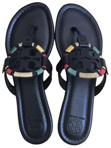 d963cc3bc3c4e0 Tory Burch Multicolor Embroidered Miller Miller Sandals Size US 10.5 ...