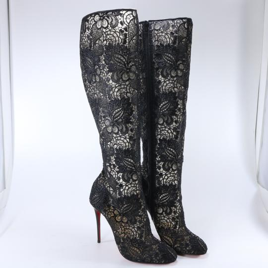 887941f41246 Christian Louboutin Tennissina Sequined Red Sole Knee Boot