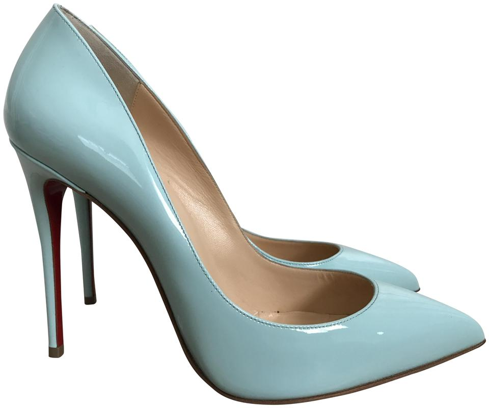 9da9e66eca12 Christian Louboutin Patent Leather Pointed Toe Source Light Blue Pumps  Image 0 ...