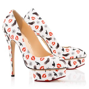 Charlotte Olympia Red, white Pumps