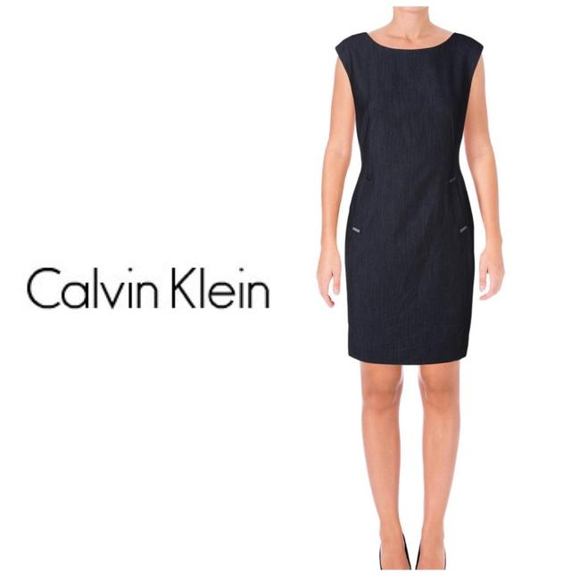 Preload https://img-static.tradesy.com/item/24014104/calvin-klein-blue-sleeveless-chambray-sheath-mid-length-workoffice-dress-size-petite-6-s-0-0-650-650.jpg