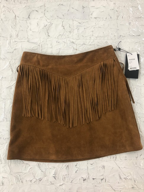 708a07f584c Saint Laurent Whisky A-line Suede Fringe Skirt Size 6 (S, 28) - Tradesy