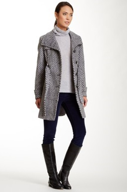 Kenneth Cole Wool Walking Short Trench Coat Image 3