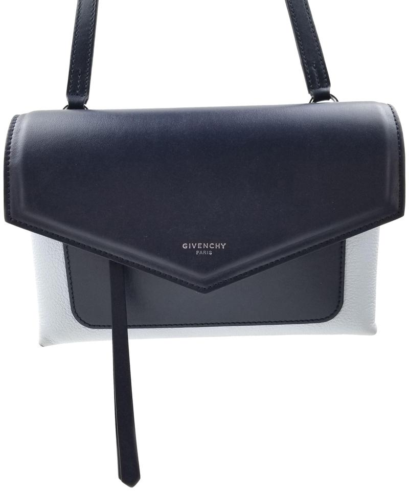 87c3a3864e Givenchy Duetto Two Tone Navy  Light Blue Leather Shoulder Bag - Tradesy