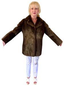 other Bohemian Vintage Imported Sheared Nutria Fur Coat