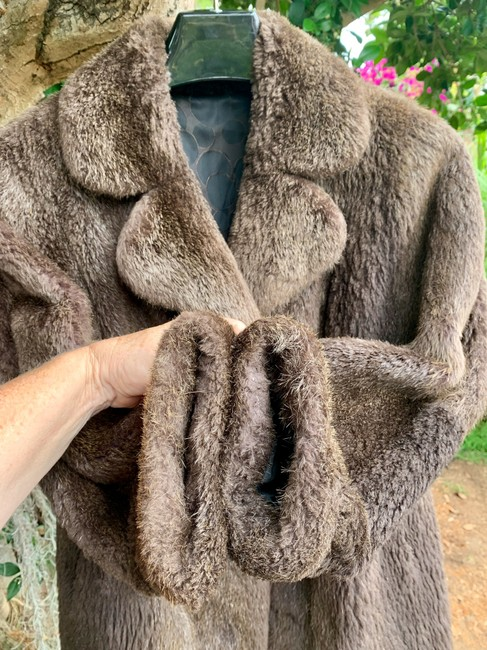 other Bohemian Vintage Imported Sheared Nutria Fur Coat Image 2
