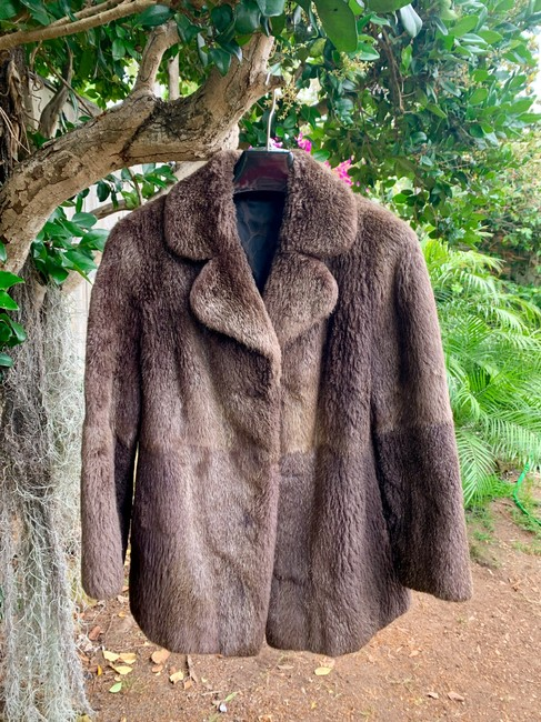 other Bohemian Vintage Imported Sheared Nutria Fur Coat Image 3