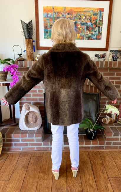 other Bohemian Vintage Imported Sheared Nutria Fur Coat Image 5