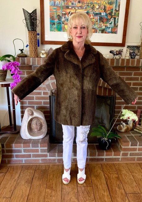 other Bohemian Vintage Imported Sheared Nutria Fur Coat Image 6