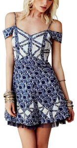 Free People Fp New Romantics Floral Wedding Guest Party Stretchy Fit N Flare Bohemian Festival Dress