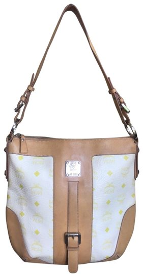 Preload https://img-static.tradesy.com/item/24014248/mcm-visetos-beige-white-and-yellow-coated-canvas-leather-shoulder-bag-0-1-540-540.jpg