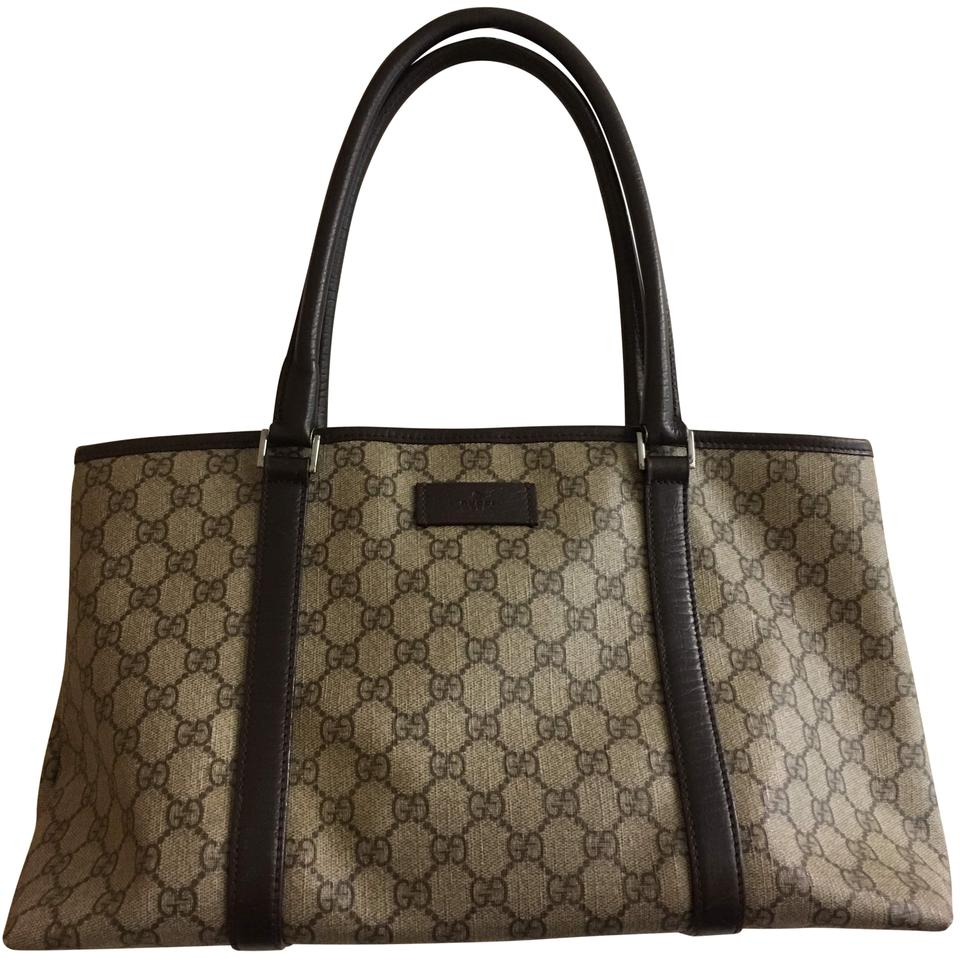 abbd30054f0b66 Gucci Travel Luggage Monogram Tote in Brown Image 0 ...