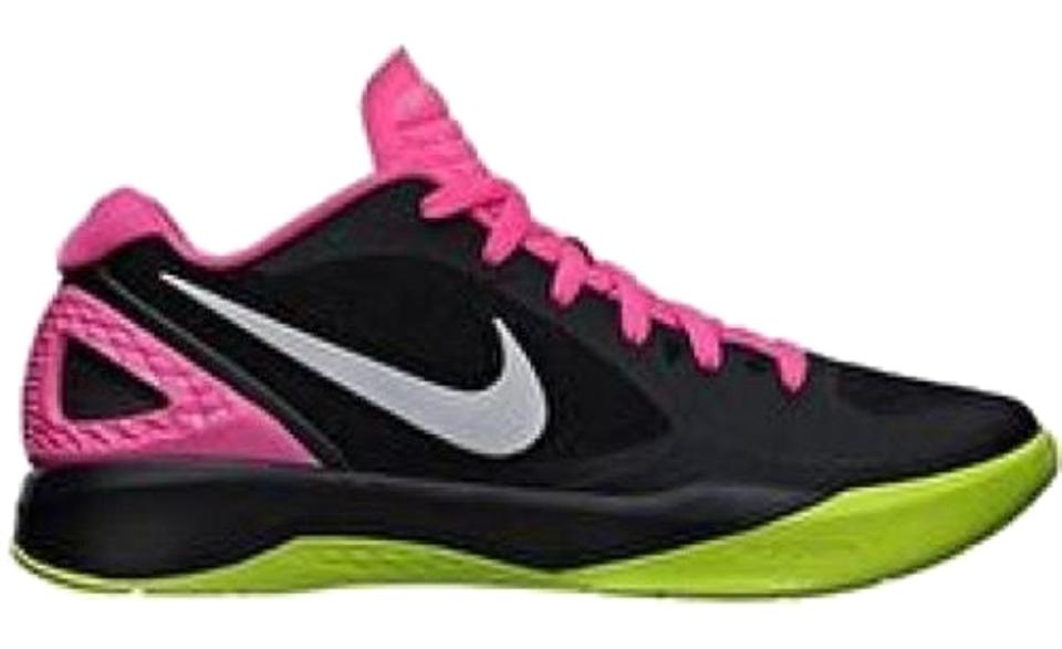 finest selection 21059 12023 Nike Black Hot Pink Volt Lime Green White Women s Volley Zoom Hyperspike  Volleyball Sneakers