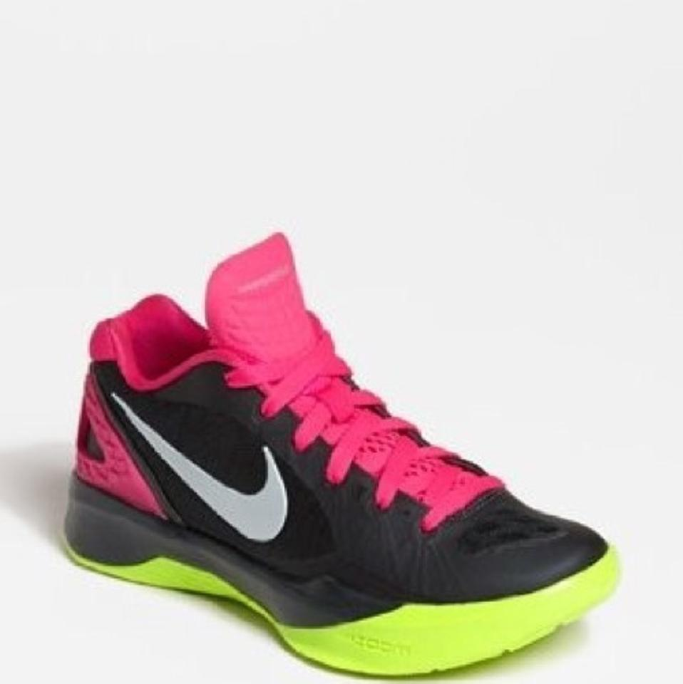 premium selection c5620 2972c Nike Black Hot Pink Volt Lime Green White Women s Volley Zoom ...