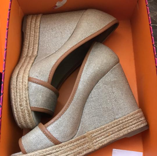 Tory Burch tan Wedges Image 3