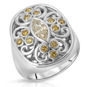 Neena Gorgeous chunky ring with marquise diamond