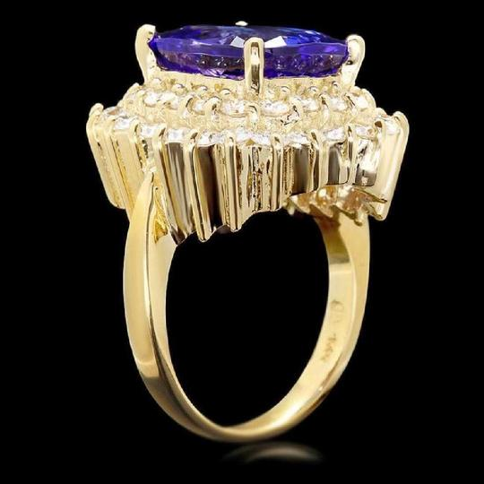 Other 9.40 Carats NATURAL TANZANITE and DIAMOND 14K Solid Yellow Gold Ring Image 1