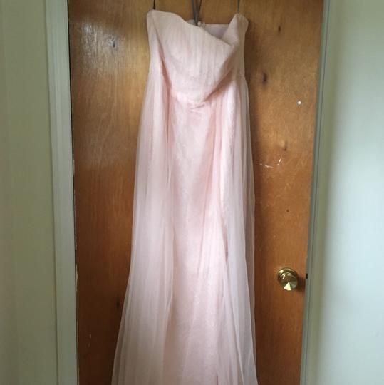 White by Vera Wang Blush Lace & Tulle Feminine Bridesmaid/Mob Dress Size 10 (M) Image 1